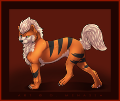 . Growlithe by Myiiuki