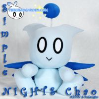 Simple NiGHTs Chao in blue by BriteWingz