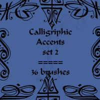 Calligriphic Accents 2 by rL-Brushes