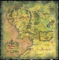 MiddleEarth Map as a Wallpaper by csacemisi
