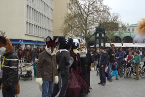 Fursuitwalk Hannover 5.4.2014 Part 13 Germany. by ASKABANIUM