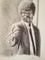 Samuel L Jackon (Pulp Fiction) by PatrickRyant