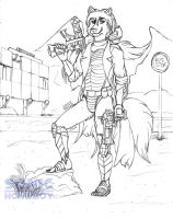 Borderlands Soldier - Raul Xi (sketch) by SonicHomeboy
