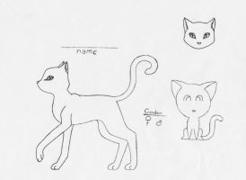 Short furred cat lineart by WillowPawz
