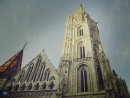 Streets of Hungary 10 - Church by resresres