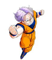 Trunks in Goku's Gi by moonrakerone