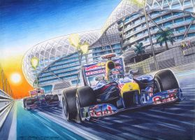 Vettel in ABU Dhabi by pitzersart