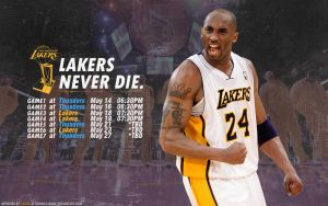 Lakers vs Thunders Schedule Wallpaper by lisong24kobe