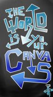 The World is Your Canvas - Graffiti by ukiyodistrict