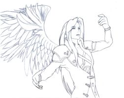 Burning With Anger Sephiroth by Lord-Chikara