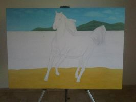 The Horse White 03 by eduaarti