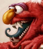 Elmo is a Monster right? FACE by heckthor