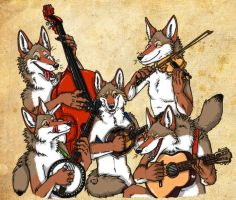 Coyote Bluegrass Jam by That-Green-Monster