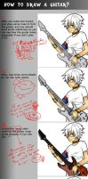 How to Draw a Guitar by buonopanda