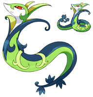 Pokemon 5G Shiny Serperior by etherspear