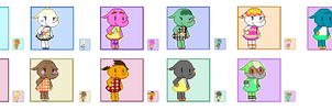 Animal Crossing Pixel Avatars- Elephants by Maareep