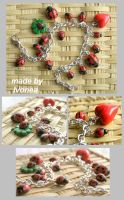 bracelet with ladybirds by Ivonea
