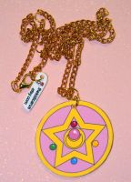 Sailor moon crystal star compact necklace by kouweechi