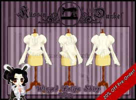 White Winged Lolita Shirt by Kussen-Dunkel