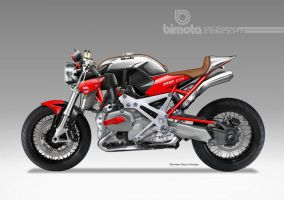 BIMOTA BB-4 S Cafe Fighter Concept # 6 by obiboi