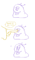Boop on the nose [comic strip] by FroggyLovesCoffee