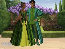 Tiana and Naveen by TFfan234