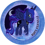 Princess Luna Button by Soseiru