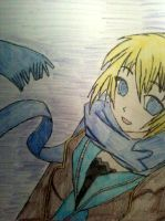 Girl with the blue scarf by navii16
