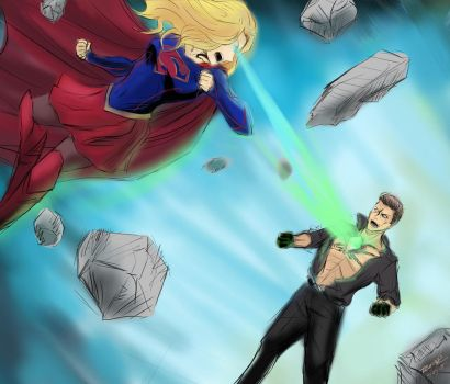 Supergirl vs. Metallo by trufflemunchies13