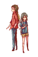 Pixel Commission 5 - Waiting by Nyanfood