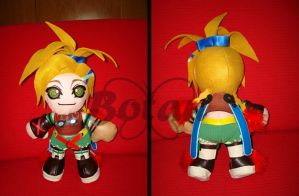 Rikku FFX plush version by Momoiro-Botan
