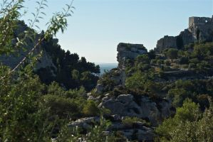Les Baux Castle 2 Provence. France by jennystokes