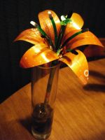 Recycled Pop Can Orange Lily by Christine-Eige