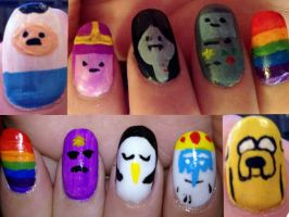 Adventure Time (Nail art 1) by misspants12
