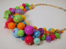 Gumball Explosion Necklace by PoniesOfDOOOM