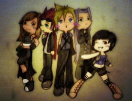 Final Fantasy 7 Chibis by xXFF7xYaoixX