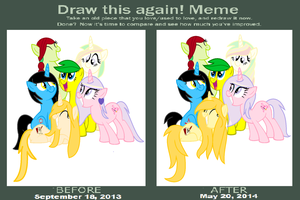 Draw this again! Lily Spark's Mane Six by Appimena