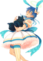 DRAMAtical Murder Render - Aoba Seragaki || Dress by WhateverheadDrop
