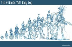 1 to 9 Heads Tall Body Tag by Starshinigami