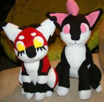 OC Pup Plushies by Shadowless-Dreamer
