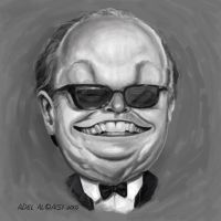 jack nicholson caricature by adel2009