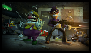 Wario and Waluigi - Bank Heist by DMGaina