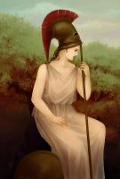 Athena - The Goddess of War by KarlaFrazetty