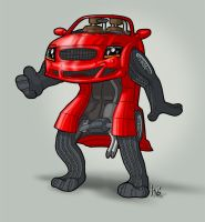 Red - the Audi TT Anthro by suzidragonlady
