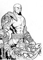Kratos - Inks by Inuji