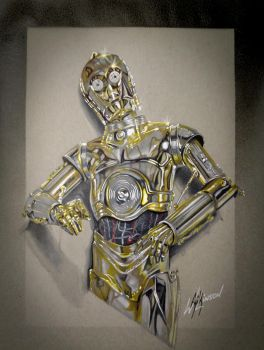 C-3P0 by Rikwilkinsonartist