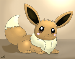 Commission -- Eevee by pichu90