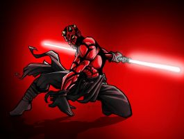DARTH MAUL by CThompsonArt