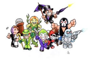 Mini Gotham Villains ! by Hamdoggz