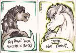 Horse-Sam + Pony-Dean Cards by dauntingfire
